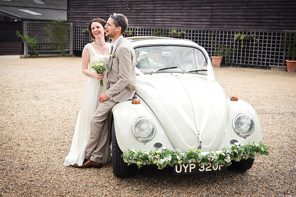 wedding beetle car